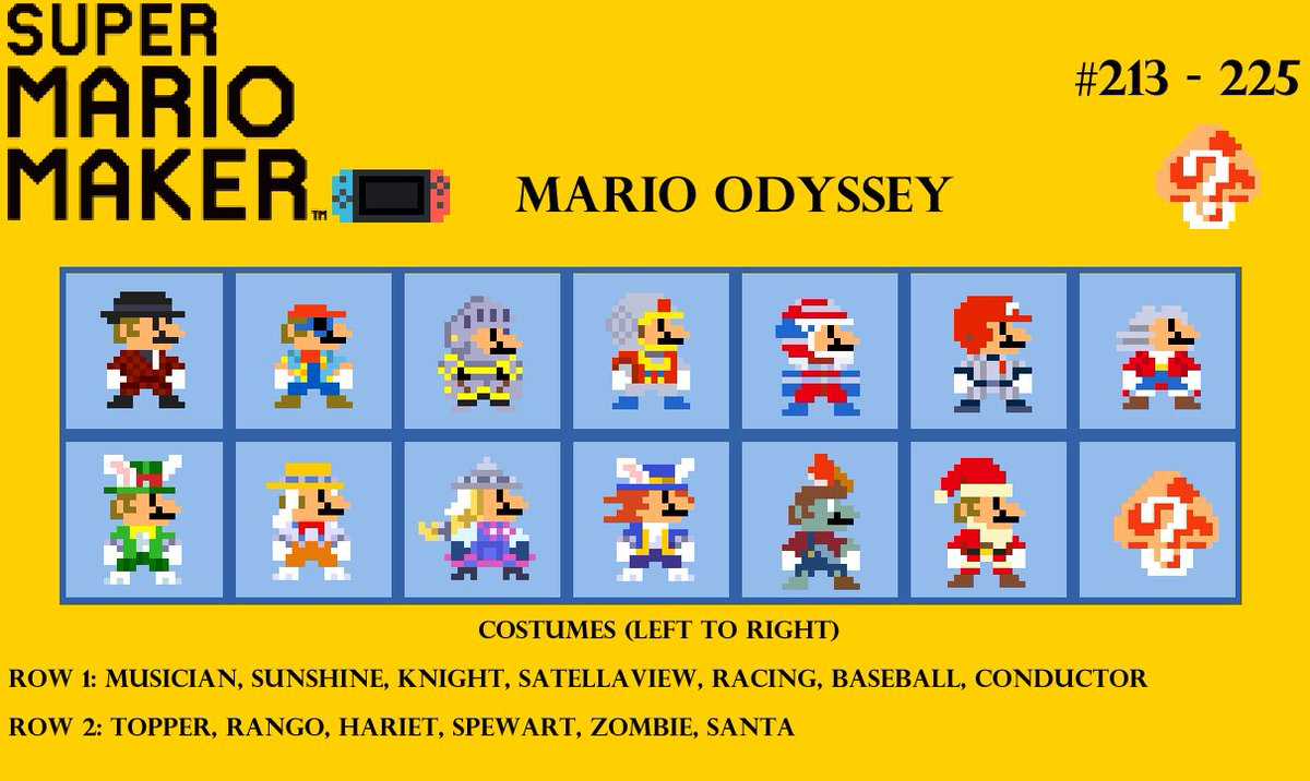 SuperMarioMakerCostume tagged Tweets and Downloader | Twipu