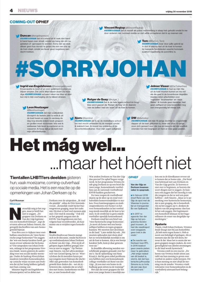 Hans Nijenhuis على تويتر Sorryjohan Dit Is De Pagina In