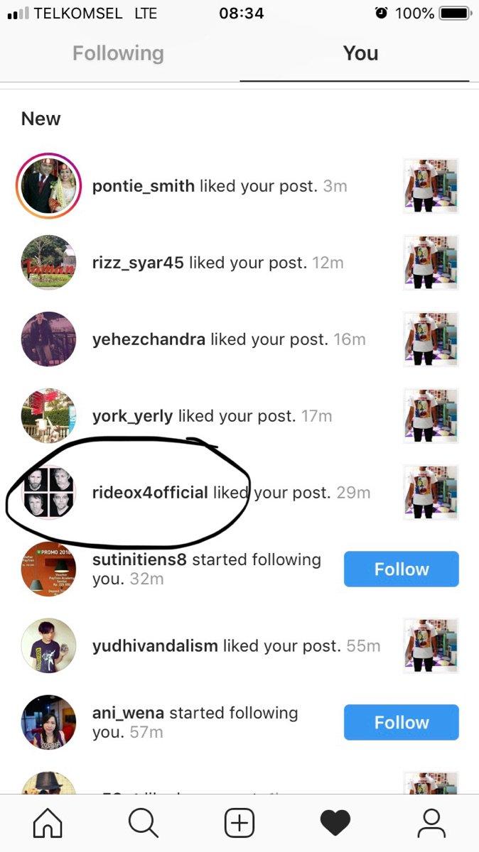Happy itu ketika postingan di instagram di-liked sama bandnya. @rideox4 Sederhana hehe