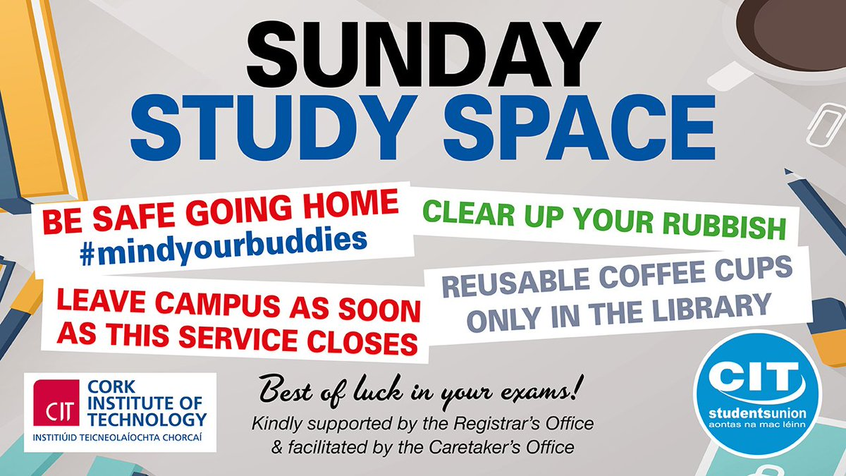 cit students union on twitter plan your studies for the weekend good luck to everyone study cit_ie citlibrary