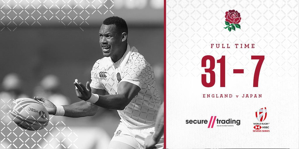 England Mens Sevens make it two from two after victory over Japan 🌹