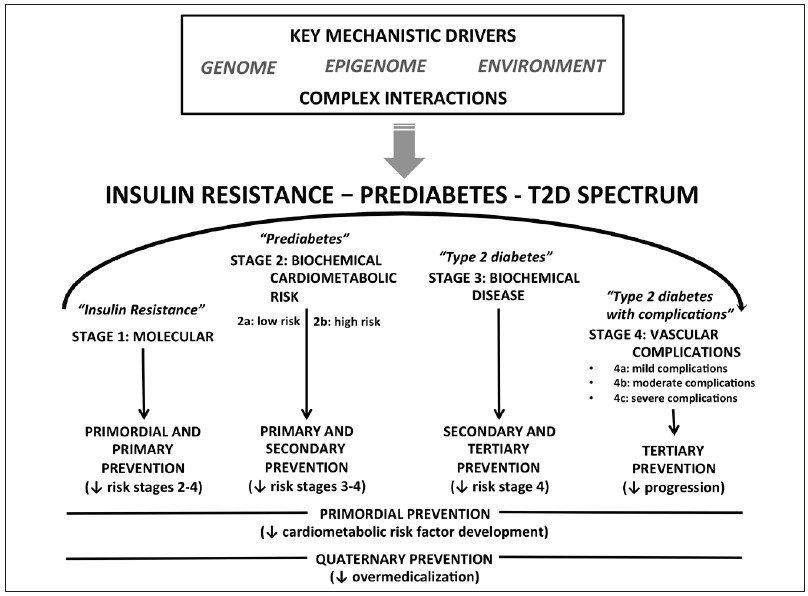 síndrome de resistencia a la insulina versus tipo de diabetes
