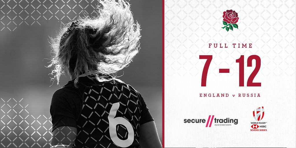 England Women Sevens have been beaten by Russia and finish sixth at the #Dubai7s 🌹