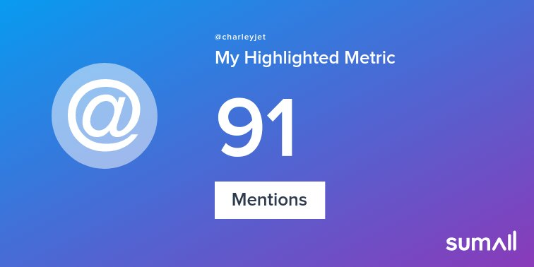 My week on Twitter 🎉: 91 Mentions. See yours with https://t.co/z0OiOqAO9u https://t.co/LBC6A82kgU