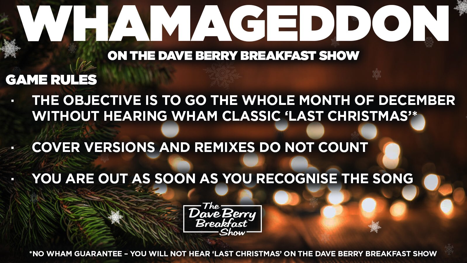 Dave Berry 2021 Christmas Absolute Radio On Twitter With December Just Around The Corner Whamageddon Is Back On The Daveberry Tweet Show The Rules Are Simple The Task Is Huge The Goal Is Universal Can You Make