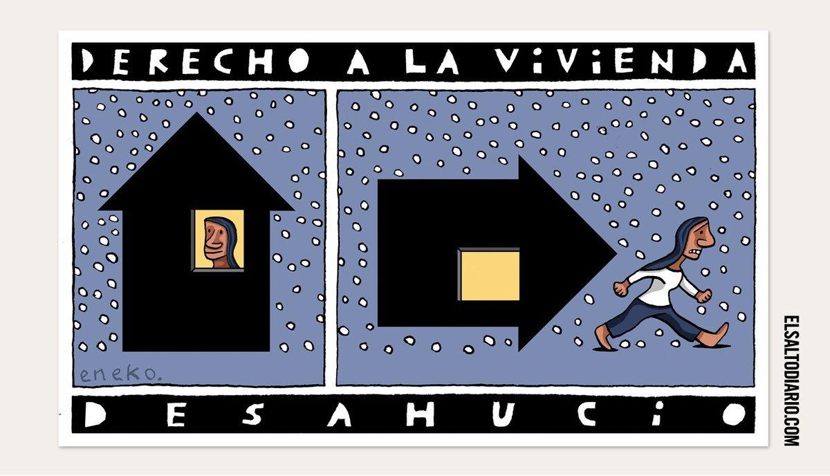 Derecho a la vivienda Vs. Derecho a la avaricia. Publicado en @ElSaltoDiario / Elsaltodiario.com