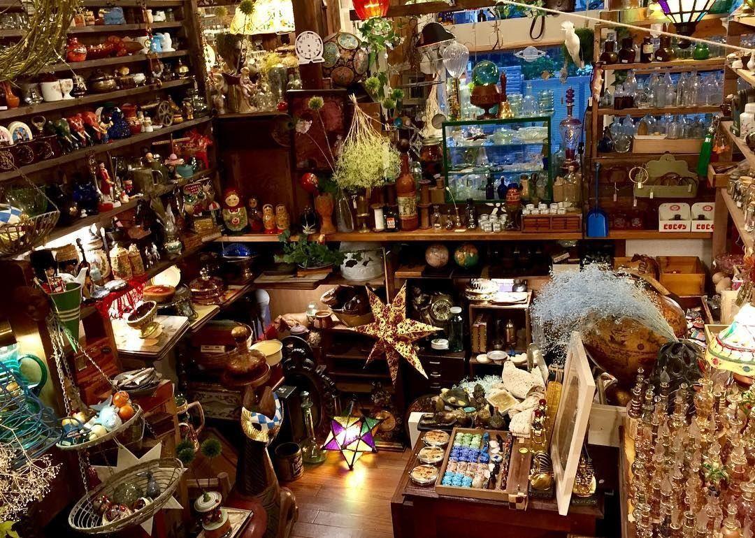 「魔法使いが立ち寄る店」と言われる雑貨店「海福雑貨」が本当に美しいです。見渡す限りキラキラしたアンティークの雑貨ばかりで「ハリー・ポッターの世界に迷いこんだのか私」って何度も錯覚します。何時間でもいられる……#金曜ロードショー #ファンタビ