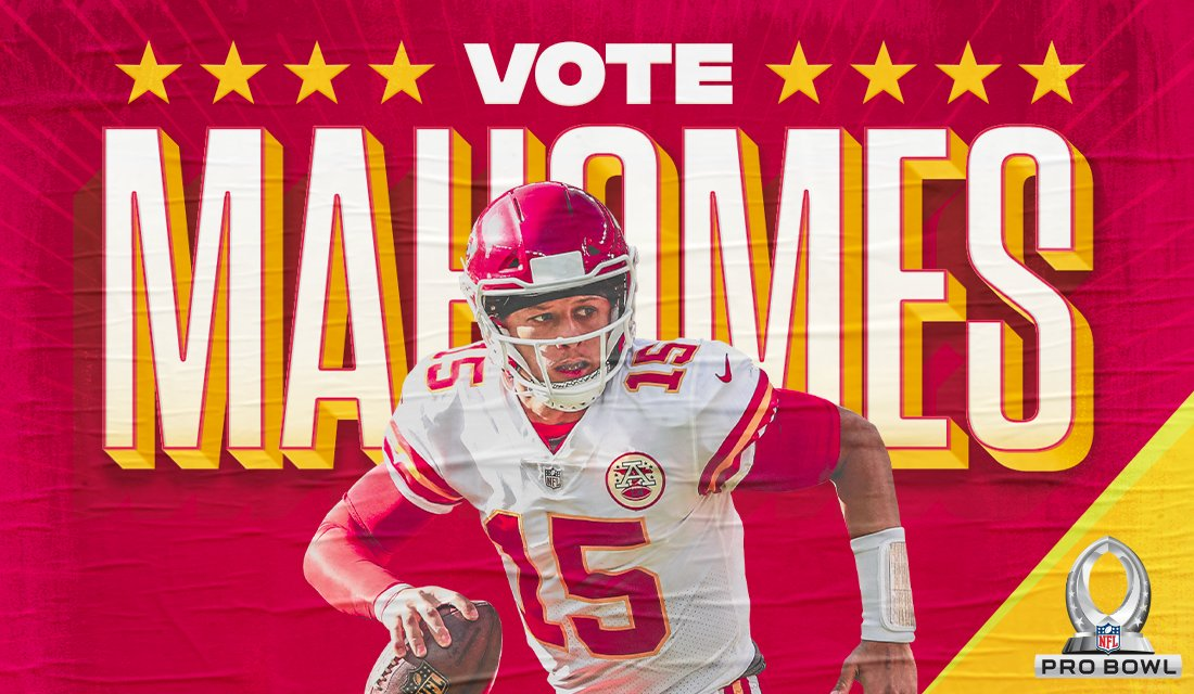 You know what to do. RT to #ProBowlVote @PatrickMahomes5