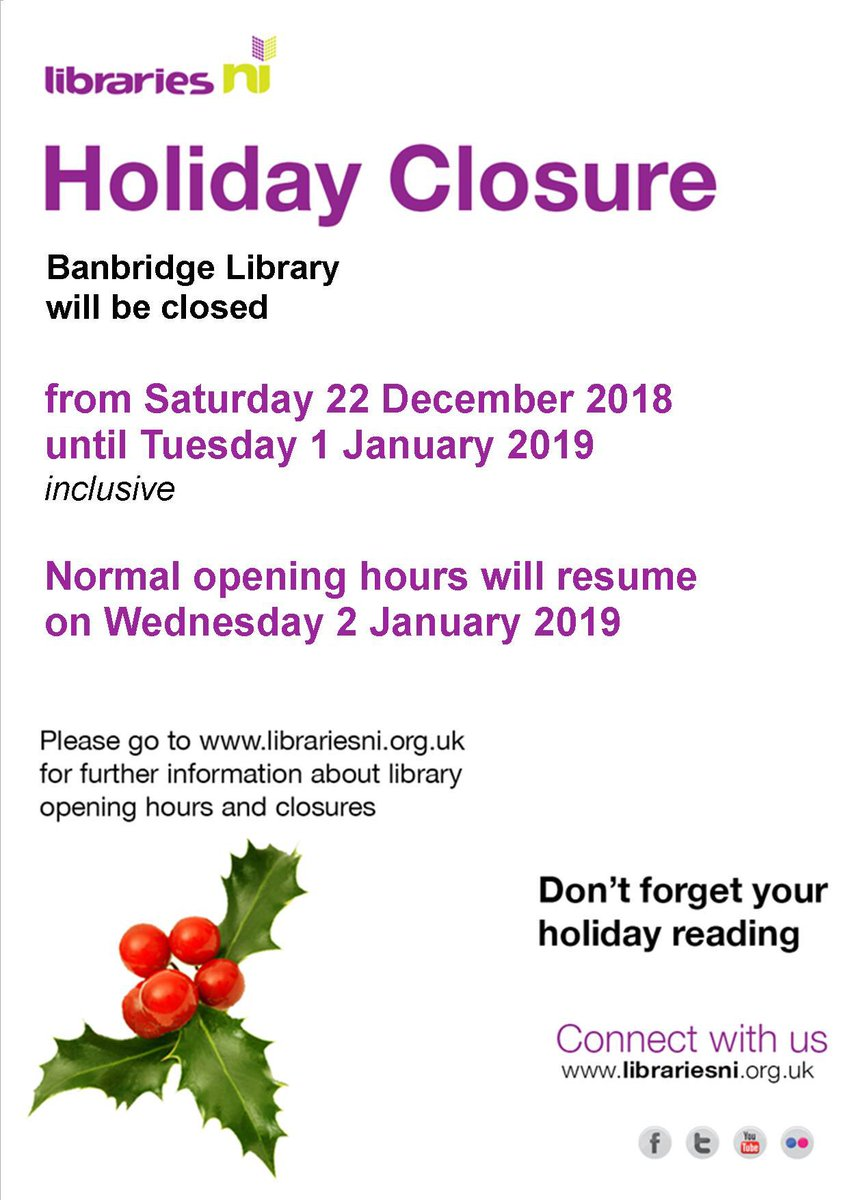 banbridge library on twitter advanced christmas and new year