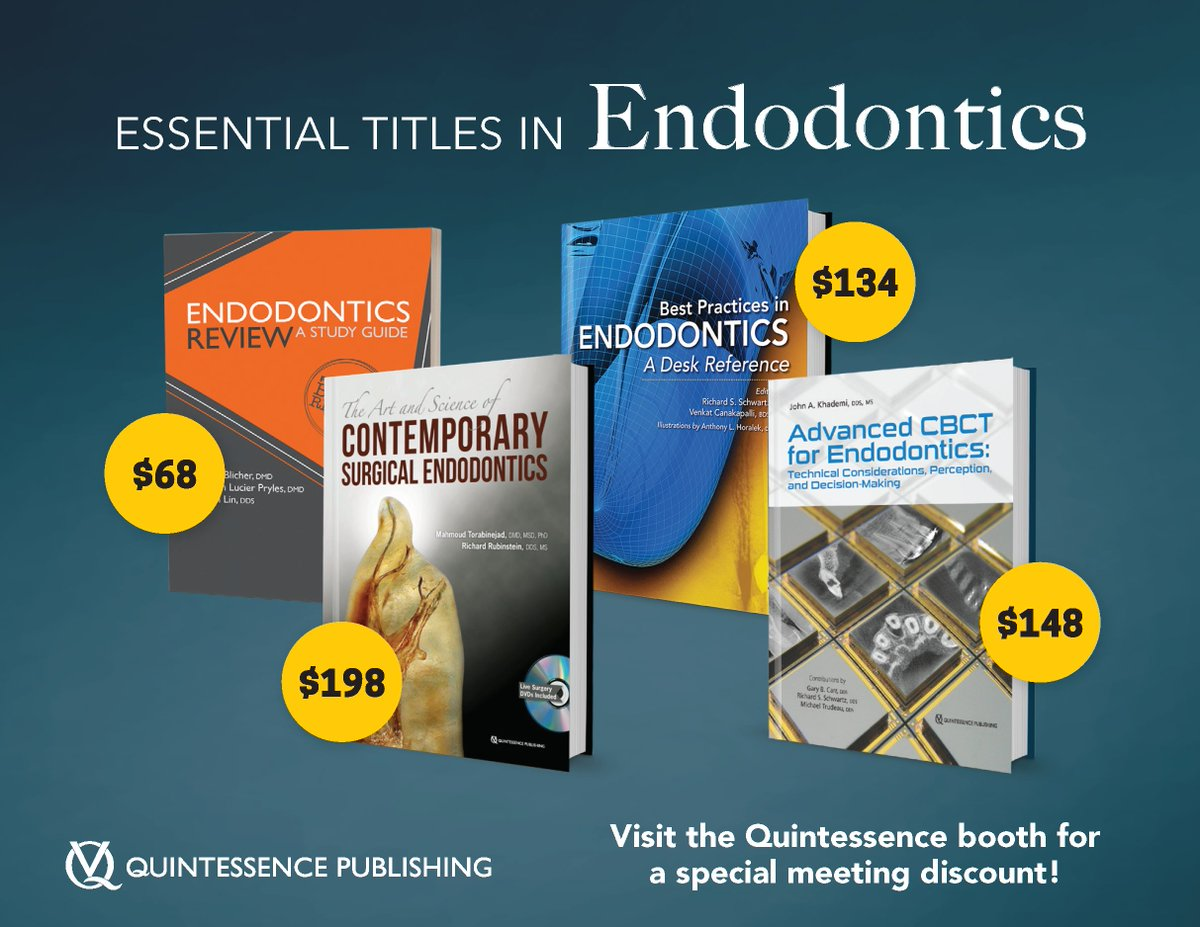 ... ask about our other endodontic titles and special meeting discounts!  http://www.quintpub.com/display_detail.php3?psku=B4832  …pic.twitter.com/xQgzaYKBmn