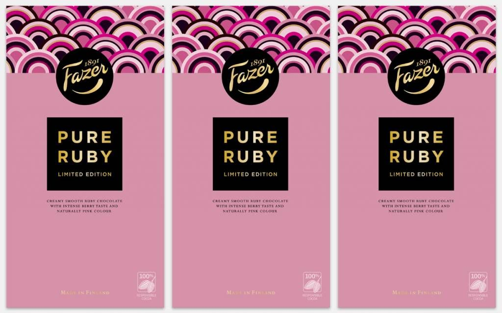 Another great #rubychocolate news: Finnish #Fazer Group to introduce limited-edition #ruby #chocolate bar https://buff.ly/2RvgcsQ