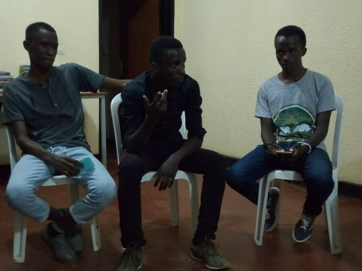"Happening now: #Youth members of @NARwanda affiliated club #imfuranzimaArtsGroup are havin their monthly #ImfuraArtsSlam the topic tonight is ""How modern slavery looks like?"" #YouthExchange @Josephnzizar @Inziranziza @mfuranzima_fred @aminaumuhoza @immymulekatete @musirikaredavid"