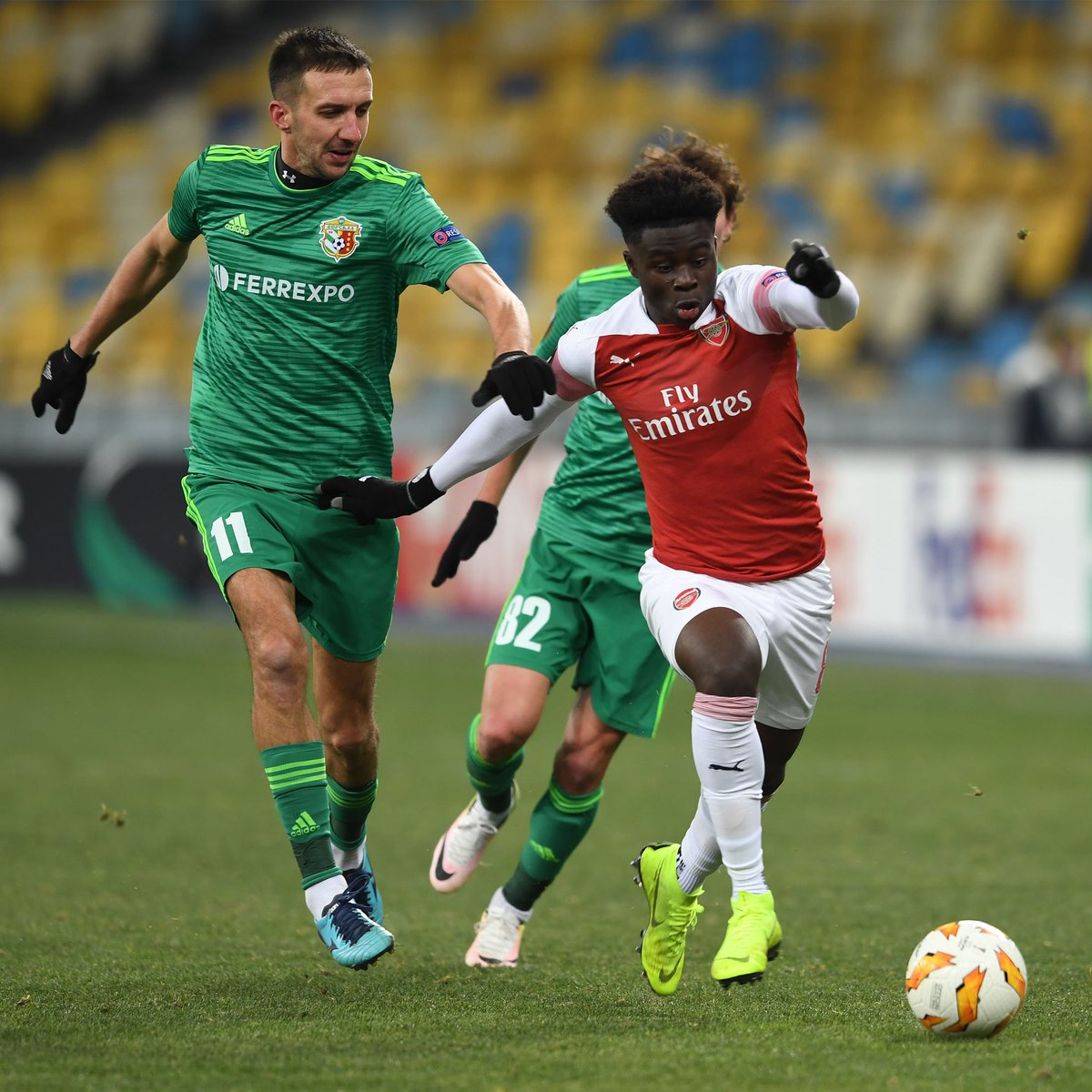 🏴 17 years, two months, 24 days   Bukayo Saka became the 15th youngest ever player to feature for @Arsenal last night 👏  #WeAreTheArsenal