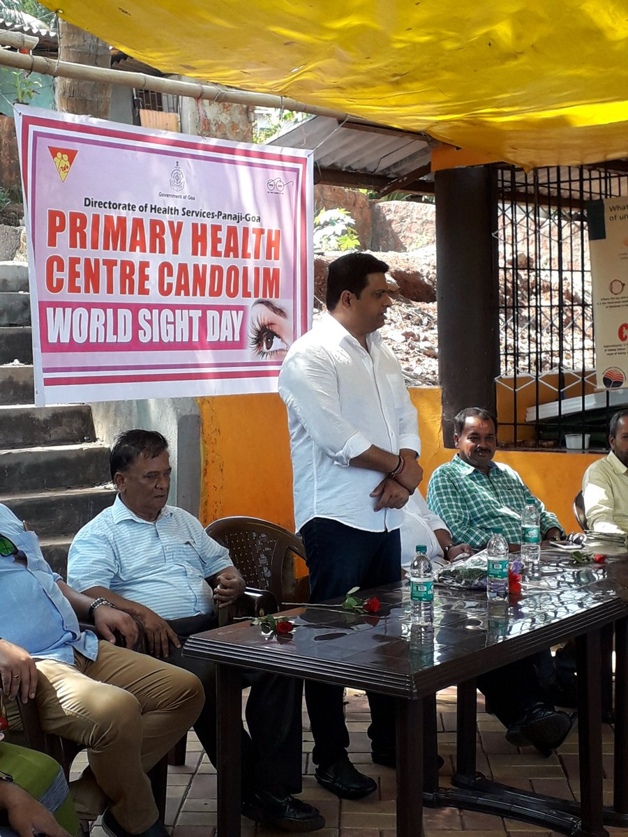 Organised a health camp on the occasion of #WorldSightDay to stress on the significance of healthy food habits and to create awareness of lifestyle related diseases. Thanks to PHC Candolim for helping us organise this camp. #HealthForward #VeremForward<br>http://pic.twitter.com/Qs4xrUKbzg