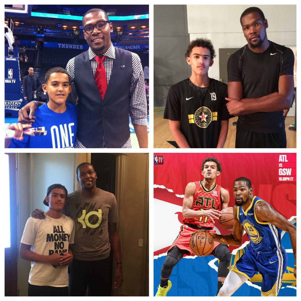 How Russell Westbrook And Kevin Durant Helped Trae Young Prepare For Life In The NBA