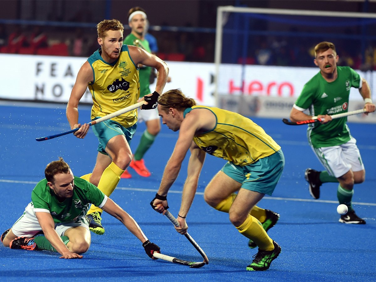 #HWC2018 #Odisha2018 #AUSvIRE  Title holders @Kookaburras struggle past Ireland 2-1   READ: https://t.co/cFKJL9wvJC