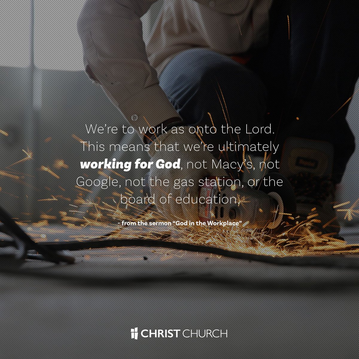 work as though working for the lord