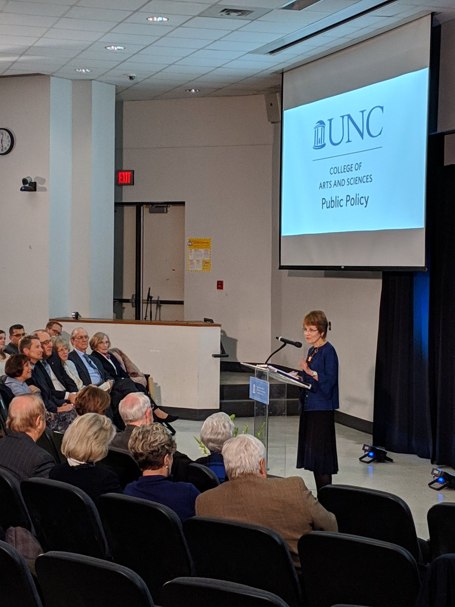 """The lynchpin of advancing our country has always been education."" Thank you AAU President & @UNC alum Mary Sue Coleman for your inspiring Lambeth lecture last night on the value of research and importance of higher education as a public good. Great having you back. https://t…"