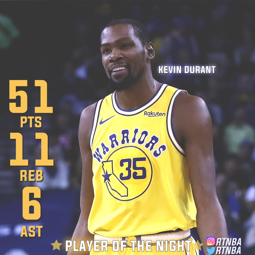 Last night's player of the night Kevin Durant🌟