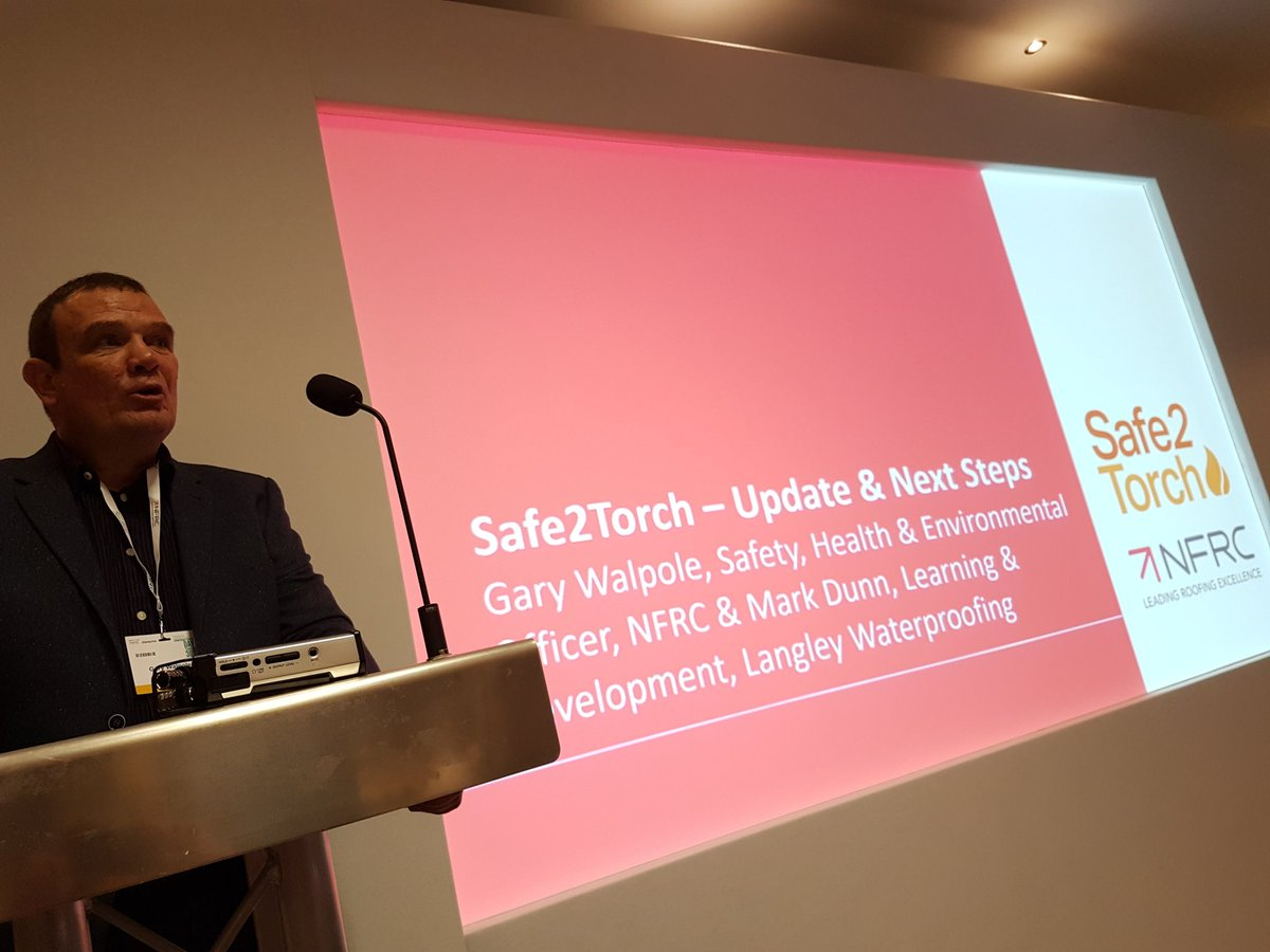 .@garywalpole @TheNFRC Technical Officer introduces next phase of #Safe2Torch