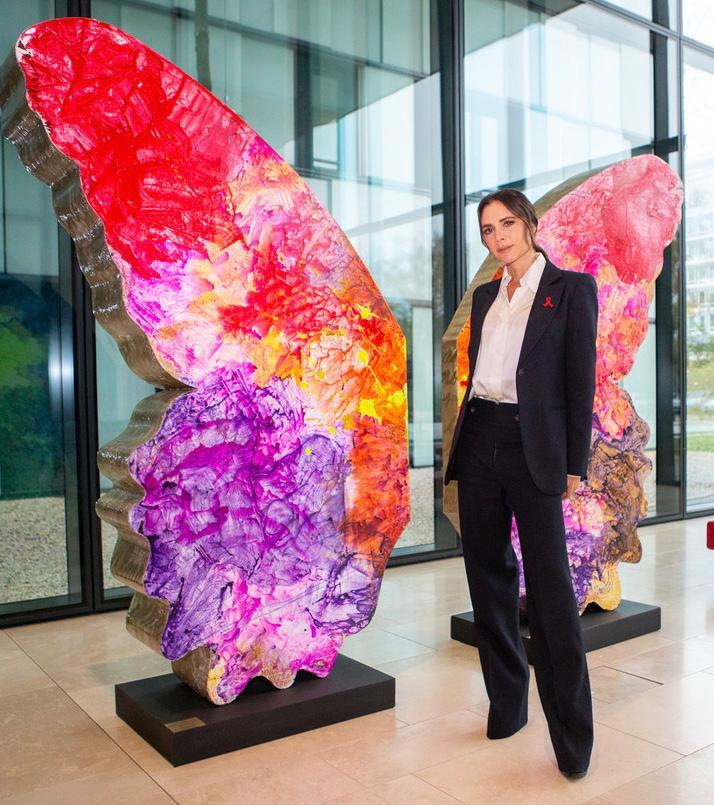 Last week I visited #MichelSidibe @UNAIDS to discuss the battle to eradicate HIV and AIDS. We recognise that getting to zero new infections is impossible without striving towards #ZeroDiscrimination. The butterfly, a symbol of transformation, is a symbol for that. #WorldAIDSDay