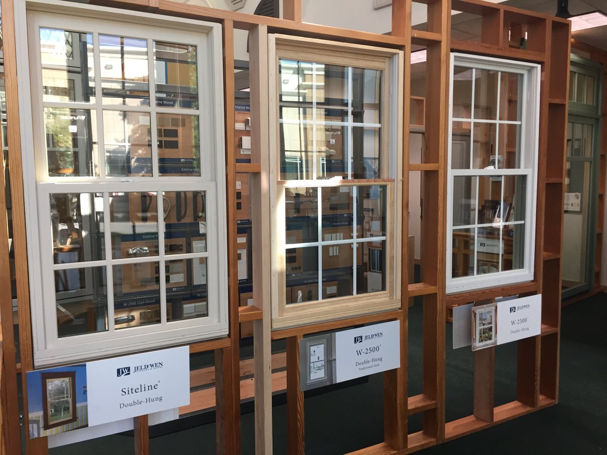 Now You Can Compare 3 Diffe Lines Of Jeldwen Double Hung Windows Side By And Directly Across From Our Existing Display Cats The Same