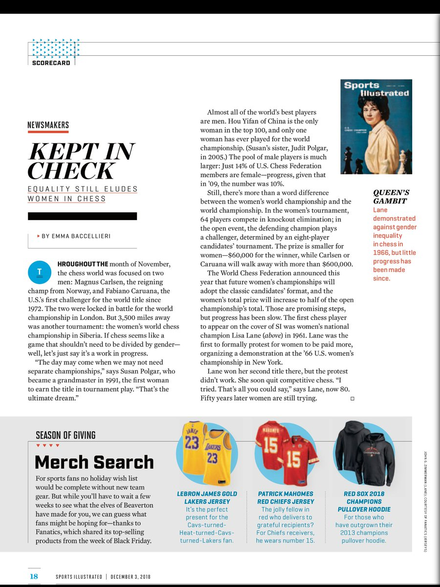 .@Fanatics top-selling holiday items featured on page 18 of @SInow. Check it out on newsstands this week!