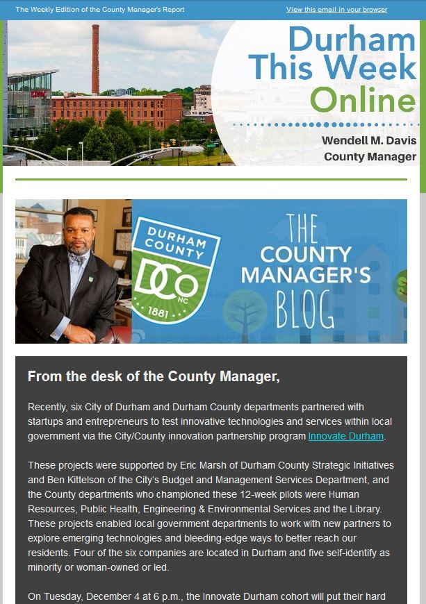 Durham County Nc On Twitter Here Is The Latest Durham This Week