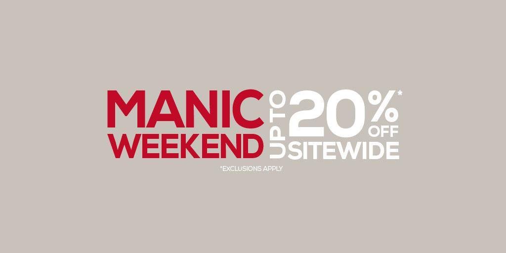 Its going to be a manic weekend on the England Rugby Store with up to 20% off sitewide 🌐 Enjoy: bit.ly/2Q5be9v