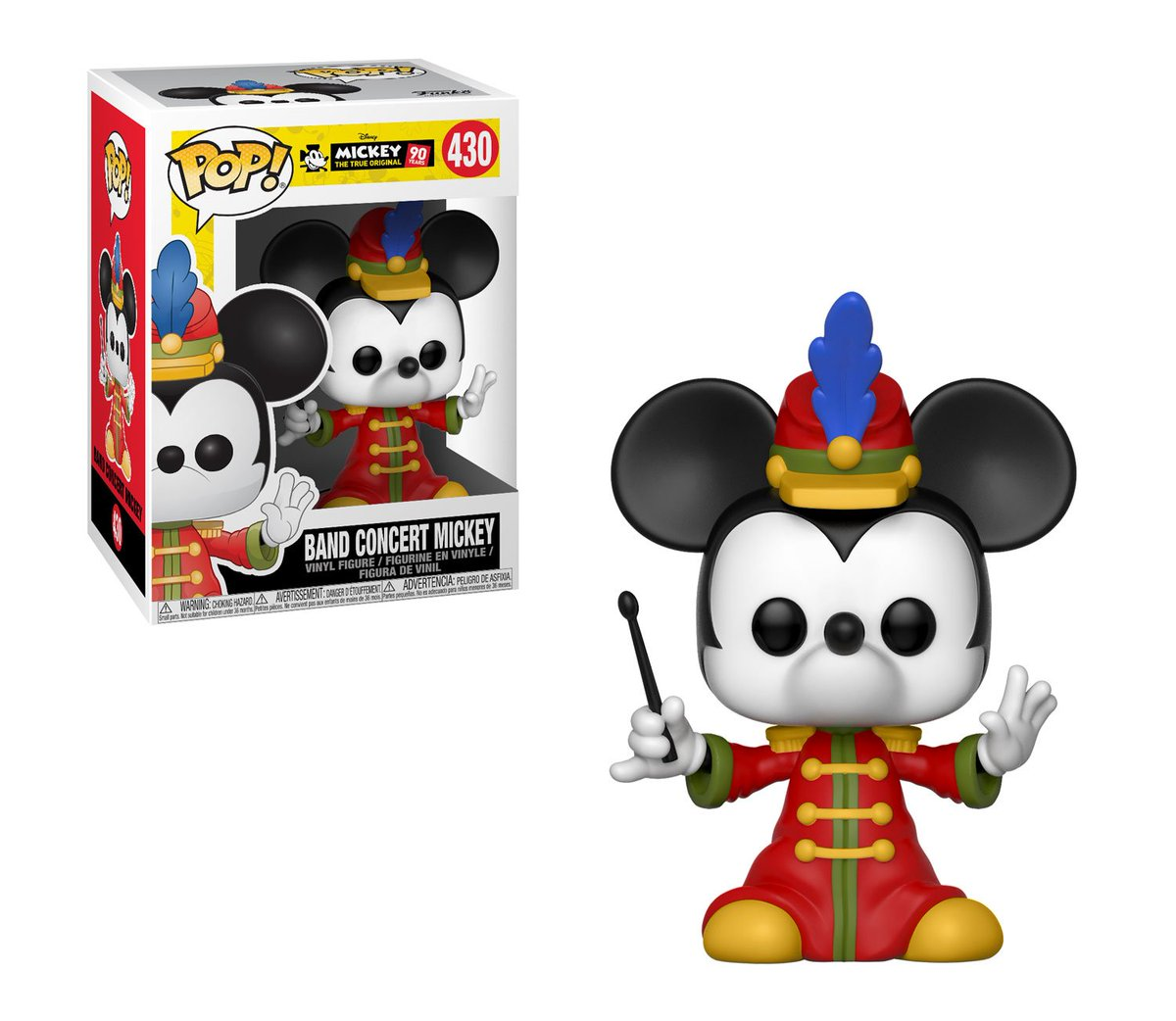 RT & follow @OriginalFunko for your chance at a Band Concert Mickey Mouse Pop! #Mickey90