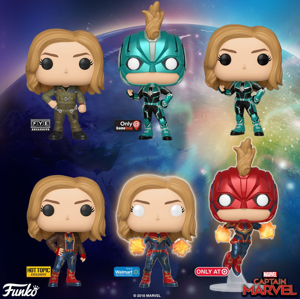 CAPTAIN MARVEL Funko POP! Images Feature Nick Fury, Chewie