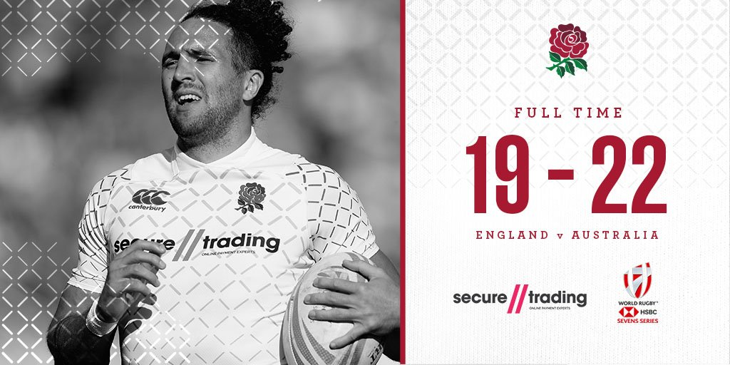 Its full time in Dubai and England have been narrowly beaten by @Aussie7s.