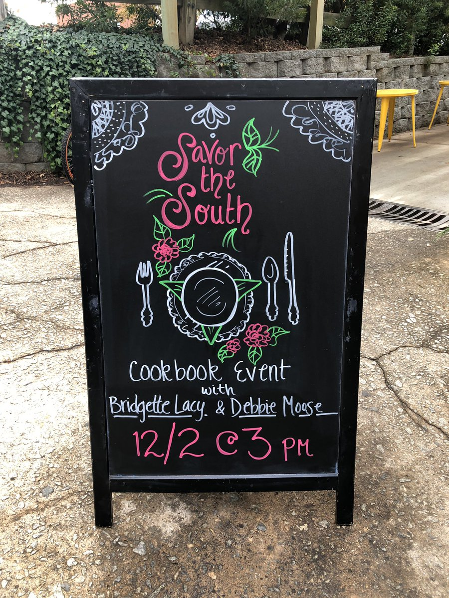 Join us this Sunday for our Savor the South Cookbook Event with @bridgettealacy and @DebbieMoose!