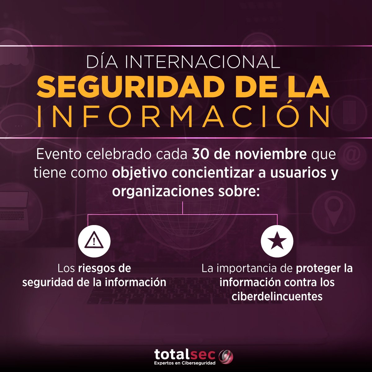 Resultado de imagen de 30 de noviembre: Día Internacional de la Seguridad de la Información
