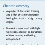 2018 @gmcuk training survey published today shows levels of burnout associated with high workloads, feeling unsupported and lower overall satisfaction.   Things need to change   #GMCsurvey #MedEd