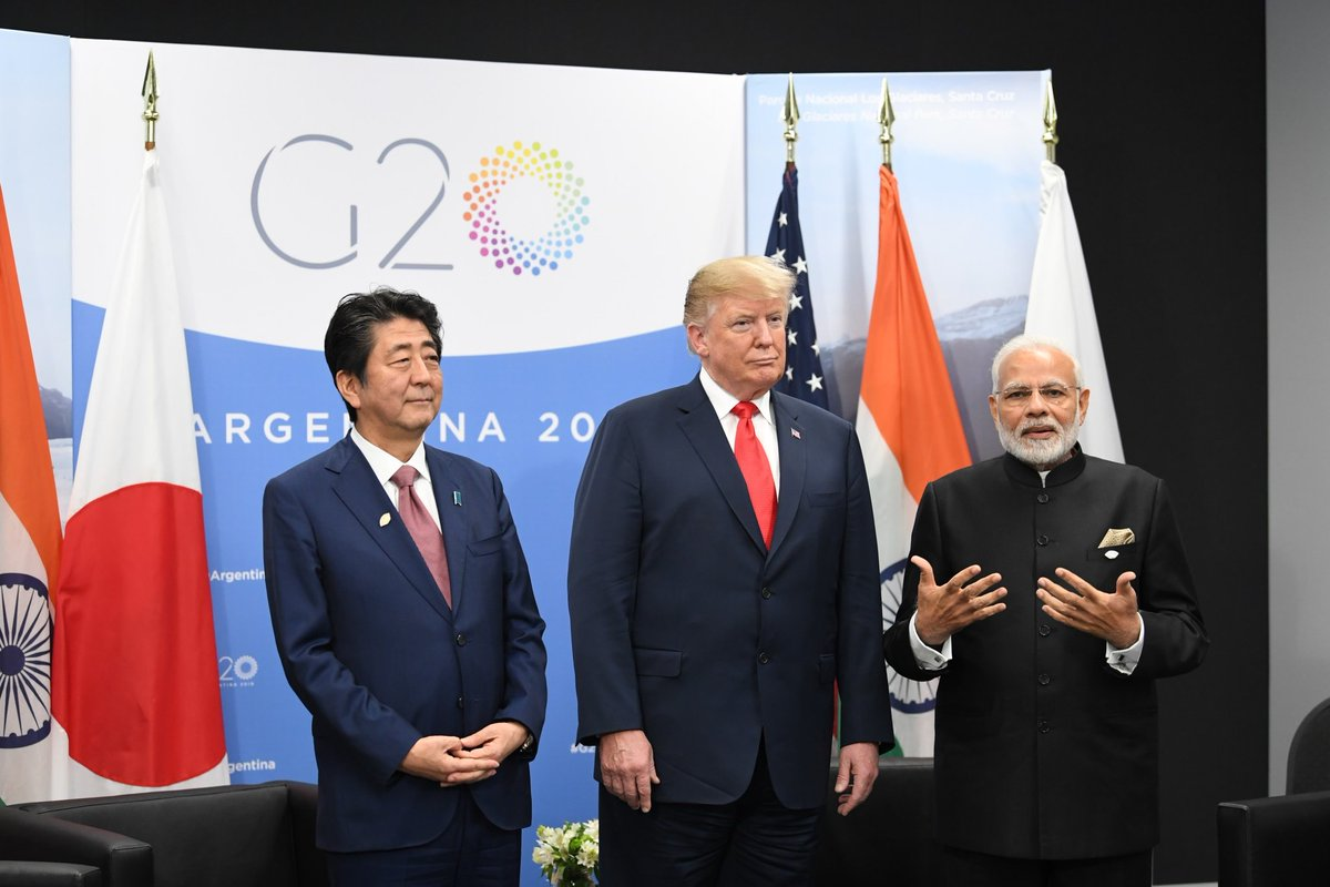 first-ever trilateral Summit 'JAI' between the leaders of Japan , America and India takes place