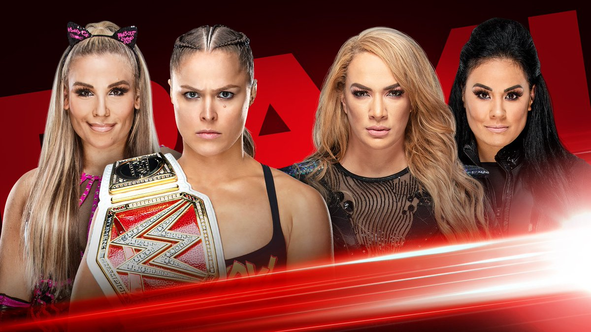 THIS MONDAY, #RAW #WomensChampion @RondaRousey will team with @NatbyNature to take on the team of @NiaJaxWWE & @TaminaSnuka! http://wwe.me/dGvS1l