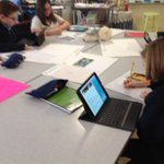 Image for the Tweet beginning: 4th graders are researching birds