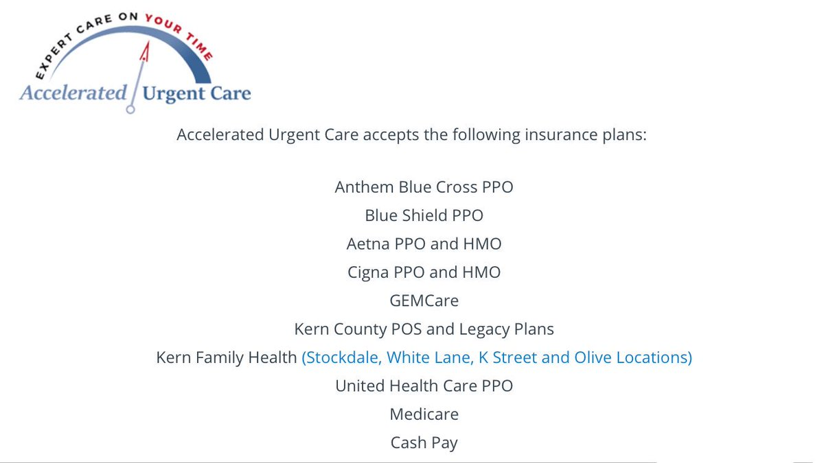 Auc Bakersfield On Twitter Accelerated Urgent Care Accepts The
