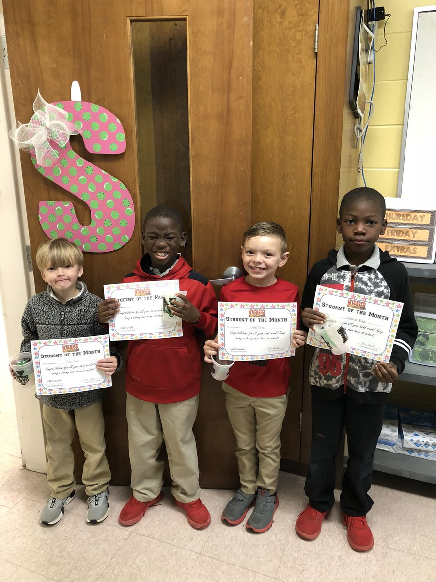 Congratulations to our November students of the month! Keep up the great work!