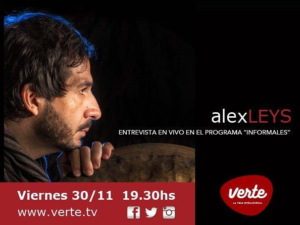Hoy! Entrevista en vivo!! Programa INFORMALES ppr @CanalVerte !! Today Live interview!! @dwdrums @remopercussion @ZildjianCompany @ProRacketCases @WincentSticks