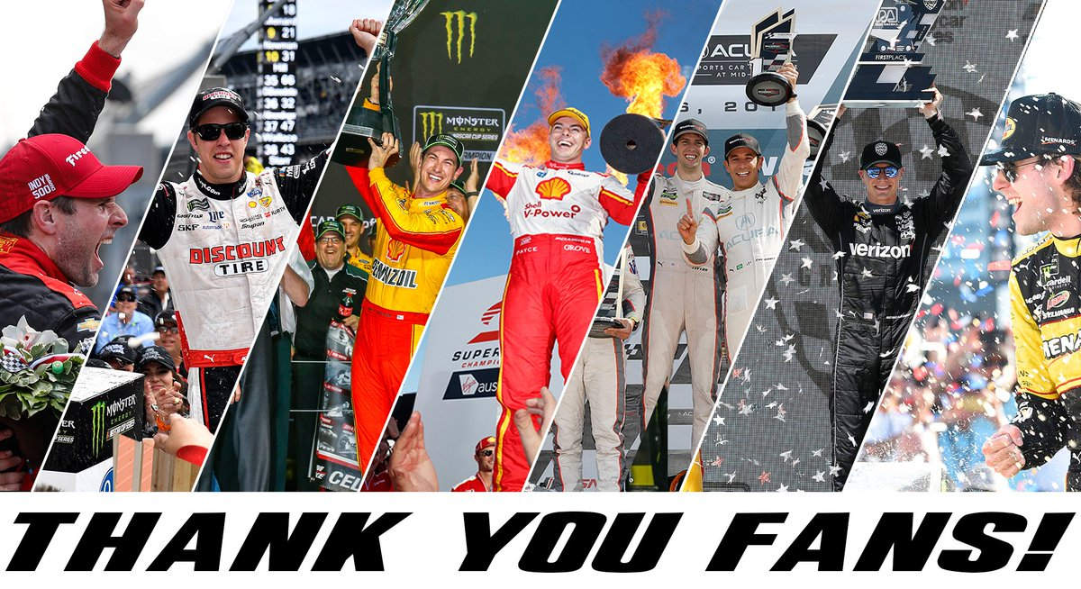 We want to thank everyone who supported Team Penske all season long. We can't wait for 2019! 🏁