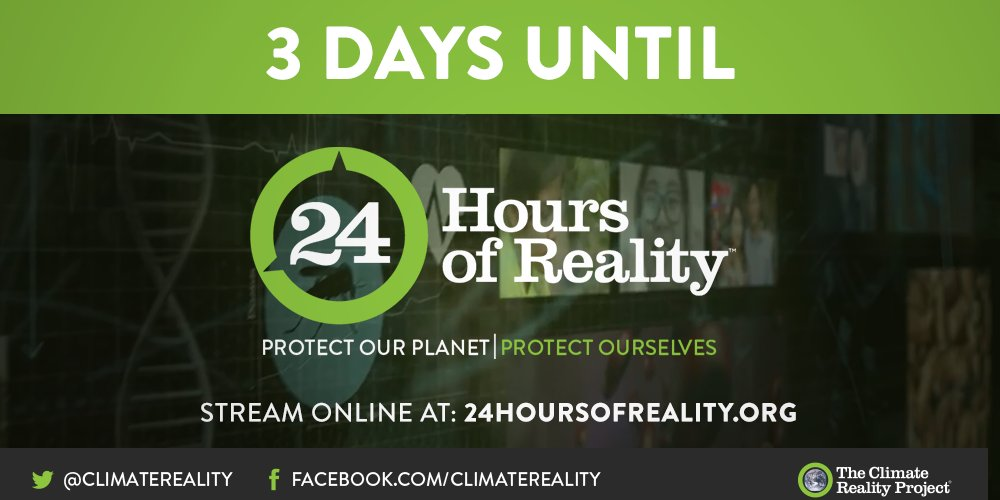 #24HoursofReality is going live in 3 days. You won't want to miss it! bit.ly/2F9iNql