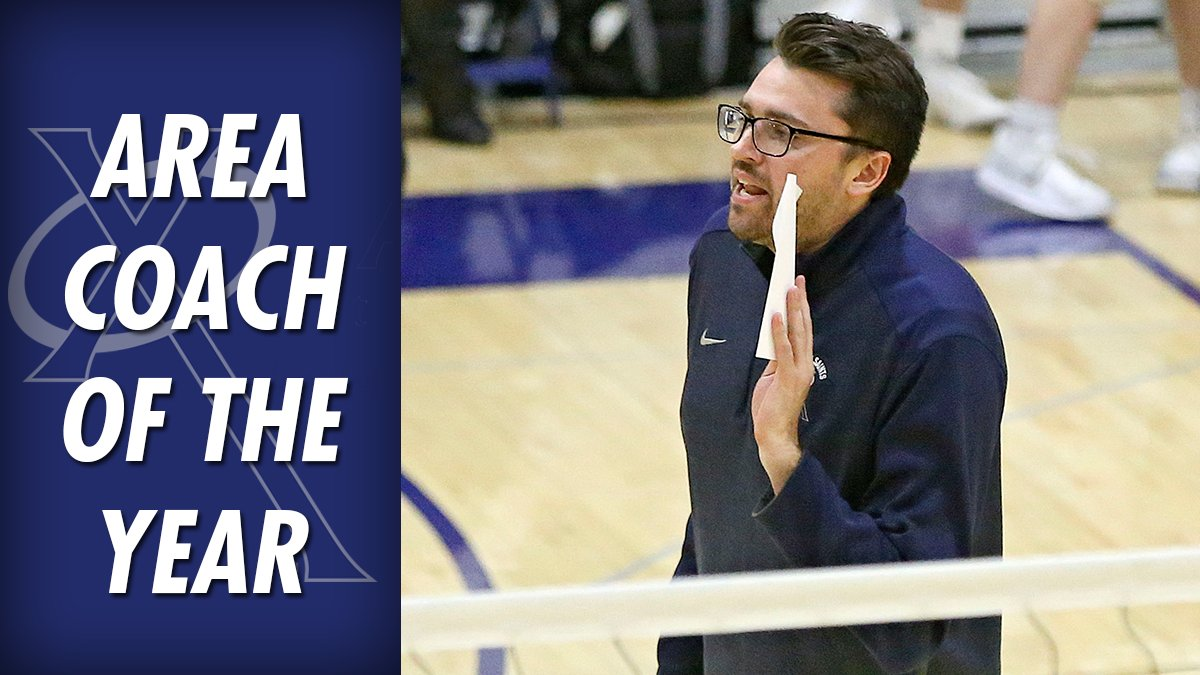 Austin Filer of @XavierSaints is our 2018 Area Volleyball Coach of the Year!  All-Area: https://thegaz.us/AreaVB18 #iahsvb