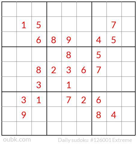 Sudoku OUBK on Twitter: