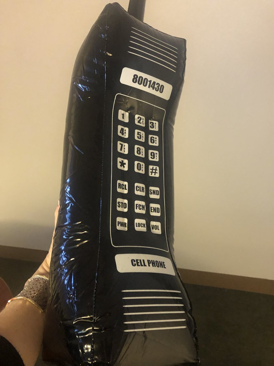 What's the story behind this 1980s cellphone?  #staytuned