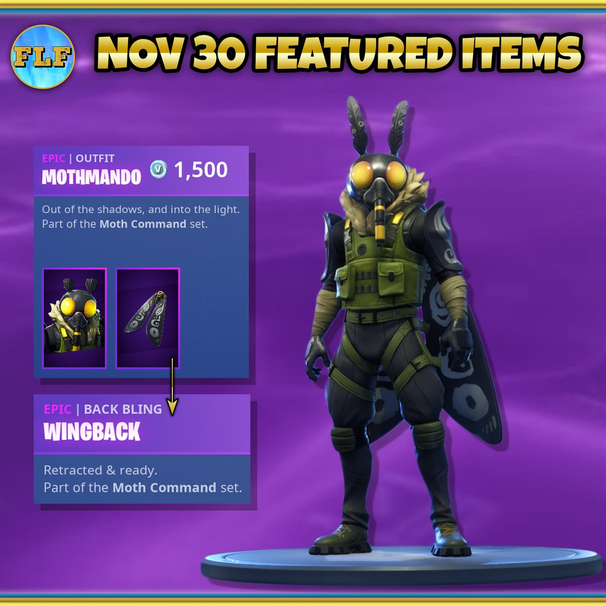 do you like moth memes regardless you ll love the new mothman gear set as part of today s daily items pic twitter com jporr4koyh - mothman skin fortnite