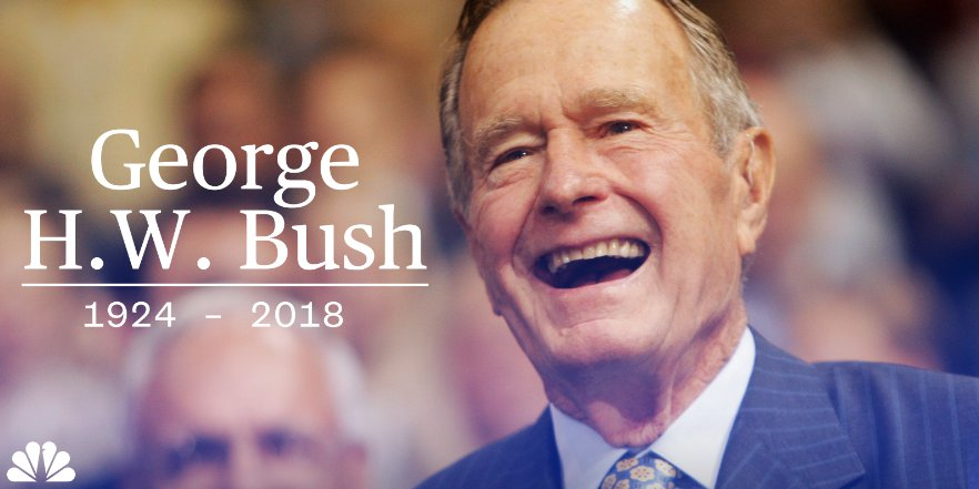 BREAKING: Former President George H.W. Bush has died at age 94.