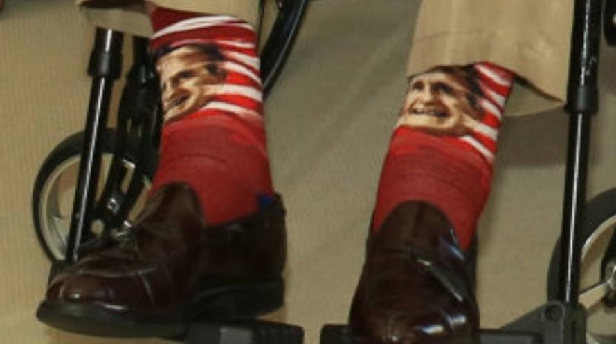 George H.W. Bush, a man of great socks. #GeorgeHWBush