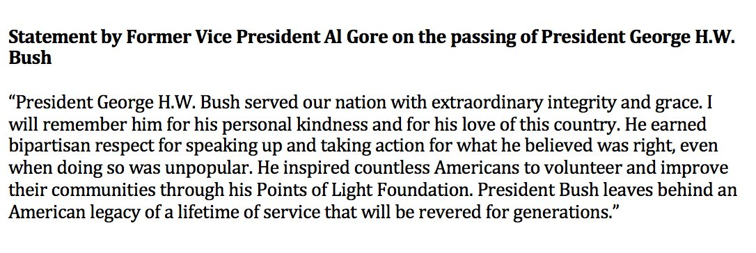 Here is my statement on the passing of President George H.W. Bush. bit.ly/2KJfYvi